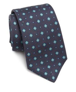 Kiton | Floral Patterned Silk Tie