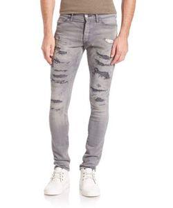 John Elliott   The Cast 2 Distressed Slim-Fit Jeans