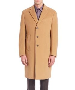 Armani Collezioni | Long-Sleeve Wool-Cashmere Coat