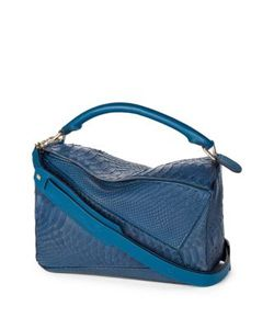 Loewe | Puzzle Small Python Shoulder Bag