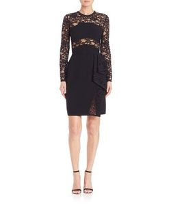 Elie Saab | Crepe Cady And Lace Dress