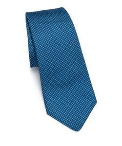 Kiton | Geometric Silk Tie