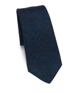 Kiton | Chevron Silk Tie