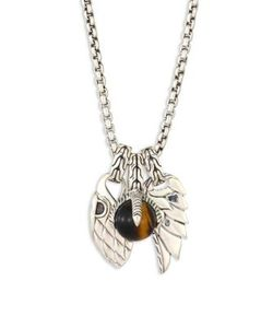 John Hardy | Classic Chain Tigers Eye Sterling Pendant Necklace