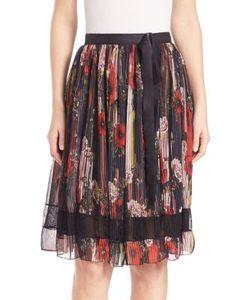 Jason Wu | Lace-Inset Printed Chiffon Skirt