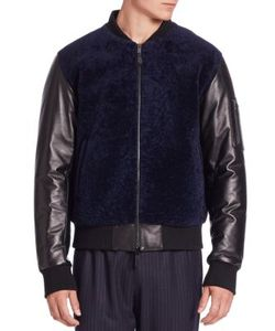 Ovadia & Sons | Shearling Bomber Jacket