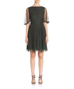 Jason Wu | Flutter-Sleeve Lace Cocktail Dress