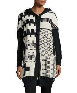 Zero + Maria Cornejo | Kyra Printed Knit Alpaca Coat