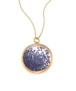 Aurelie Bidermann | Blue Sapphire 18k Yellow Medallion