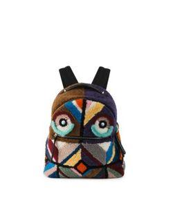 Fendi | Monster Shearling Mink Fur Leather Backpack