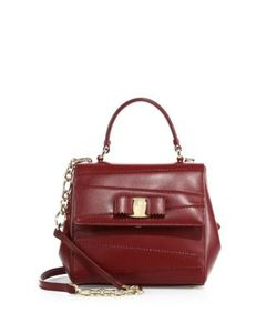 Salvatore Ferragamo | Vara Leather Petite Satchel