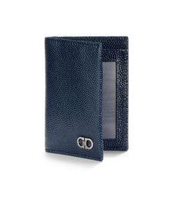 Salvatore Ferragamo   Textured Leather Vertical Wallet