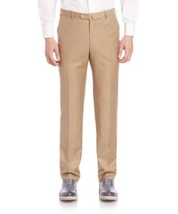 Isaia | Flat-Front Dress Pants