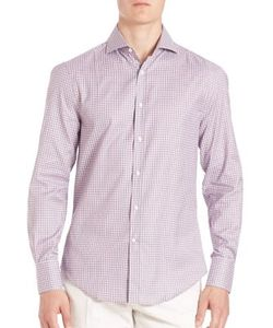 Brunello Cucinelli | Slim-Fit Multi-Check Shirt