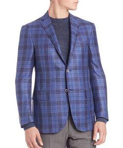 Corneliani | Plaid Wool Silk Linen Sportcoat