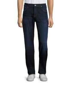 Hudson   Wilde Five-Pocket Straight-Leg Jeans