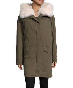 Army Yves Salomon   Fox Fur-Lined Cotton Parka