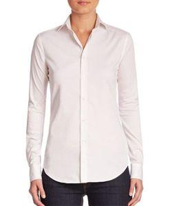 Ralph Lauren Collection | Charmain Stretch Sateen Shirt