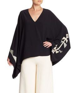 Ralph Lauren Collection | Filipa Embroidered Poncho Top