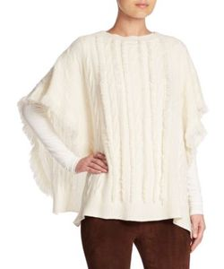 Ralph Lauren Collection | Wide Cable-Knit Cashmere Poncho