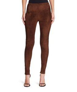 Ralph Lauren Collection | Suede Eleanora Pants