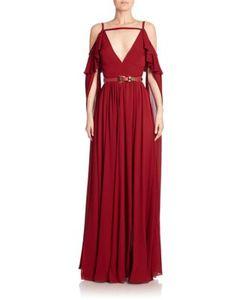 Elie Saab   Silk Cold-Shoulder Gown