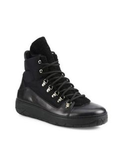 Moncler | Aile Froide Shearling Panel Lace-Up Boots