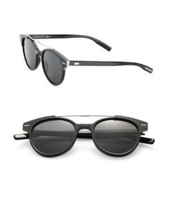 Dior Homme | Tie 220 51mm Round Panto Sunglasses