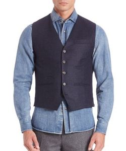 Brunello Cucinelli   Flannel Waistcoat Vest