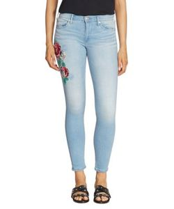 True Religion | Halle Embroidered Skinny Jeans