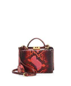 Mark Cross | Grace Small Python Box Crossbody Bag