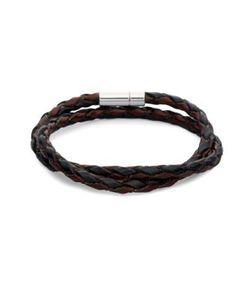 Tateossian | Braided Leather Bracelet