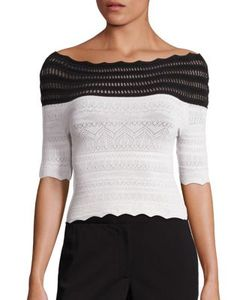Yigal Azrouel | Two-Tone Off-The-Shoulder Knit Top