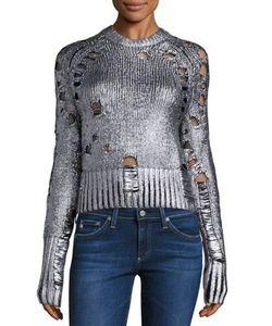 Zoe Jordan | Euler Foil Destroyed Wool Cashmere Sweater