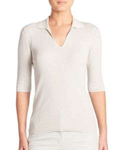 Akris | Ribbed Stretch Cotton Knit Pullover