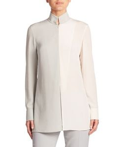 Akris | Two-Tone Silk Crepe Tunic