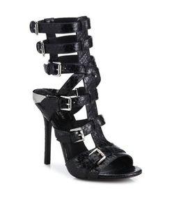 Michael Kors Collection | Ming Snakeskin Gladiator Sandals