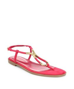 Sergio Rossi | Twist Suede Flat Sandals