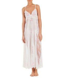 Jonquil | Petal Print Chiffon Lace Nightgown