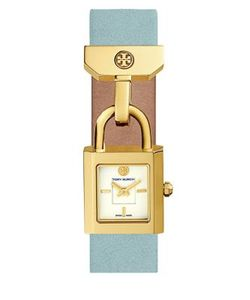 Tory Burch | The Surrey Goldtone Stainless Steel And Leather Strap Watch