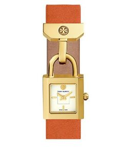 Tory Burch | The Surrey Goldtone And Leather Strap Watch