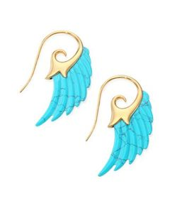 Noor Fares | Fly Me To The Moon Turquoise 18k Yellow Wing