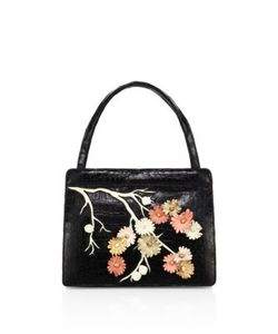 Nancy Gonzalez | Cherry Blossom Crocodile Top-Hande Tote