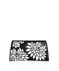 Nancy Gonzalez | Floral Crocodile Slicer Clutch