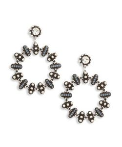 Dannijo | Elara Crystal Hoop Earrings/2