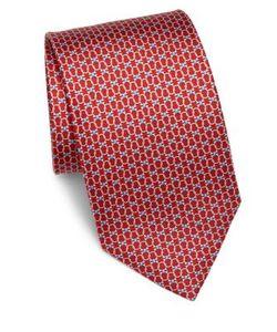 Salvatore Ferragamo | Geometric Gancini Printed Silk Tie
