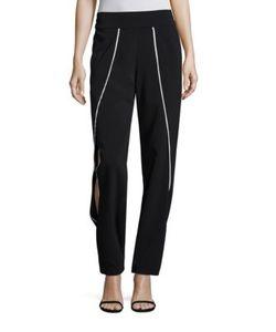 Jonathan Simkhai | Crepe Side Cutout Pants
