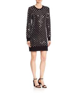 Michael Kors Collection | Embroidered Crewneck Dress