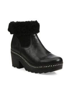 Rag & Bone | Nelson Leather Shearling Clog Booties