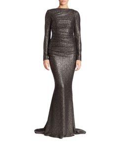 Talbot Runhof | Glitter Jersey Gown